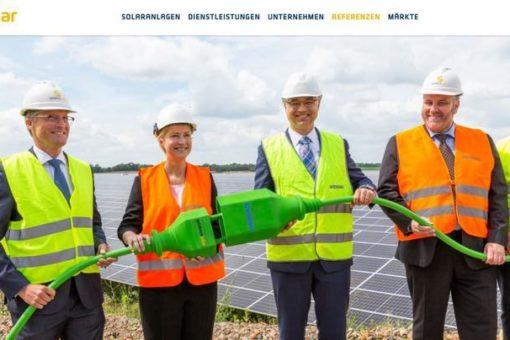 Technische Inbetriebnahme des Solarparks Zietlitz